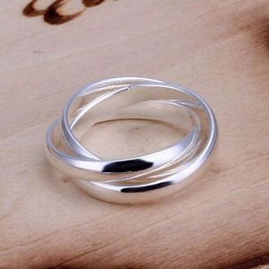 Silver Puzzle Ring Size 8